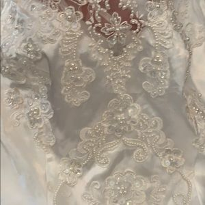 Wedding dress white formal prom queen